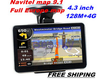 New 4.3'' GPS + 4GB memory car gps navigator