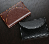 wholesale casual  leatherette magnetic business  name card ID card holder case box organizer wallet 1197