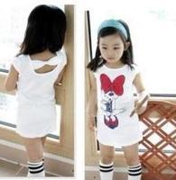 5 pcs/lot 2013 Children Kids Clothing Girls Minnie Dresses Summer Wear Sleeveless Best Selling AA5164