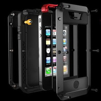 Water Dirt Shock Proof, Best Quality  Taktik metal Case for iphone 4 4s, defender case,  with retail case