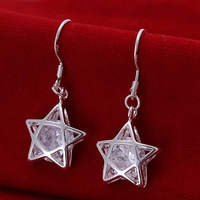 Wholesale 925 Silver Earring 925 Silver Fashion Jewelry,Hollow Star Earrings Top Quality SMTE200