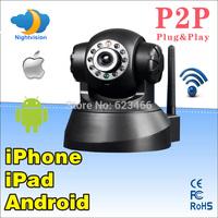 Free Shipping  Pan/Tilt WPA WiFi Wireless IP Camera CCTV PT Webcam 2 Way Audio IP CAM with P2P Functions