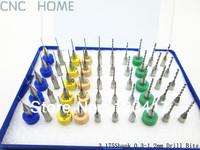 50 pcs/lot 0.3mm-1.2mm Micro Carbide PCB CNC Route Drill Bits Print Circuit Board Drill Bits Tools Wholesale Free Shipping