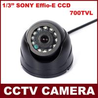 Indoor 12 LEDs IR Genuine 700TVL 1/3'' Sony Effio-E CCD Security Surveillance Dome CCTV Camera