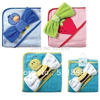 Free Shiping USA Luvable Friends Fancy Hooded Towel & Washcloth,towel bath baby
