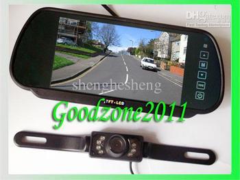"2.4G Wireless Night vision IR Car back up camera  + 7"" LCD  Camera reversing Kits parking sensor"