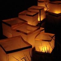 10pc/lot High Quality Chinese Water Lantern & Wish Lanterns & Water Lighting Square Shape 15*15*15CM WL1001
