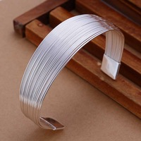 Free shipping 925 sterling silver jewelry bangle fine fashion opening bracelet bangle top quality wholesale and retail SMTB023