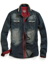 Match Spring New Issue Mens Denim Shirts Long Sleeve #MG318