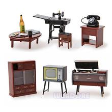 Vintage Japanese Japan Furniture Dollhouse Miniature Fridge Magnet Figure Toy House Furniture Wood Dollhouse  Furniture 1 To 12(China (Mainland))