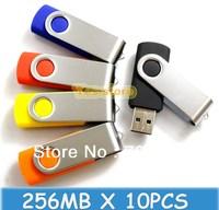 10PCS X 256MB Swivel USB Drive Thumb Stick Pendrive  Photography usb drive 256MB