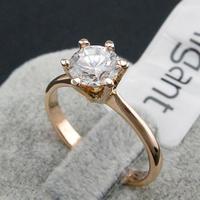 Real Italina Rigant Genuine Austria Crystal 18K gold Plated Rings for Women Enviromental Anti Allergies #RG90786