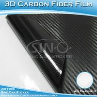 60X152CM Free Shipping 12 Colors Cheap Air Bubble Free 3D Carbon Fiber Film Vinyl Sticker DIY Car Body Wrap Foil