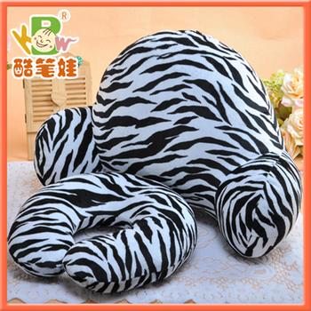 2013 Newest plush massage cushion plush U shape neck pillow plush zebra stripe cushion 2cushions/set