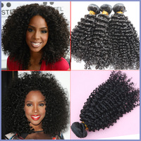 Esee hair weft High quality Grade AAAAA mongolian kinky curly virgin hair bundles natural color 3bundles/lot hair extensions