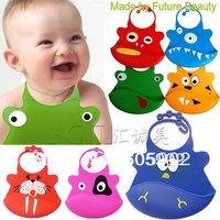 Free shipping kids bibs cute cartoon 35 desins baby bibs silicone fashion
