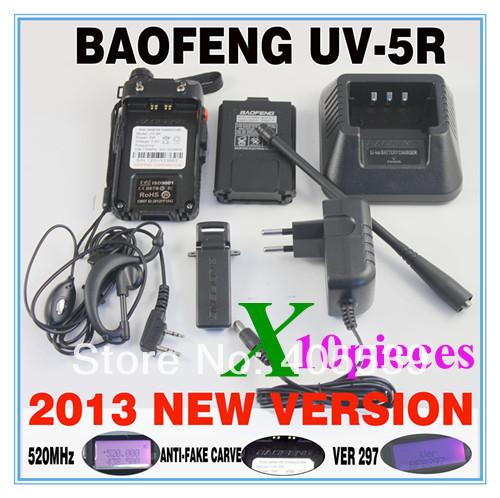 10pcs/lot BAOFENG New launch 4w 128 channel UV-5R 136-174&400-520MHz dual band dual display dual standby walkie talkie uv5r(China (Mainland))