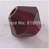 Stock Deals Czech Glass Beads,  Faceted,  Bicone,  Dark Red,  4mm in diameter,  hole: 0.8mm,  144pcs/gross
