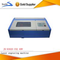 Free Shipping CO2 Laser Engraver  Machine JK-K3020 Cutting Printer 220V 40W Laser Cutter Engraving Printing