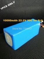 Free shipping DJI S800 battery 22.2V 10000mAh 30C 6S  Akku For  Quadcopter  XT60 connector
