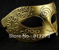 2013 Costume Ball Mask Rome Gladiator Masquerade Masks Retro Bronze And Silver Venetian Party Stage Prop