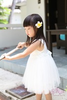 Girl dress/ 2013 summer vest white princess dress/ cute flowers kid's clothing /retail wholesale free shipping Honey Baby HB24
