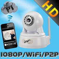 IPS 2.0Megapixel Wi-fi Pan/Tilt 3.6mm Two-Way Audio Day&Night Household Support SD Card HD IP Security Camera (IPS-Ki-E)