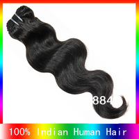 "cheap indian human hair extension body wave 12""-26""  human hair natural color Fast shipping"