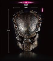 Movie Theme Alien vs Predator AVP Resin Mask Cosplay Halloween Alien Golden Silver Masquerade Party Accessories Holiday Gifts