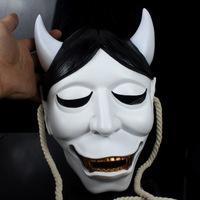 Movie Theme Resin Japanese Buddhist Traditional Hannya Mask Evil Style Halloween Fox Household Decoration Gift