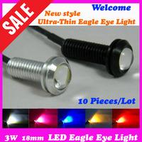 3 W 12V 18mm Super Bright Ultra-Thin Car Eagle eye lights is LED  Backup Tail lights/Daytime running lights, Four-Color Optional