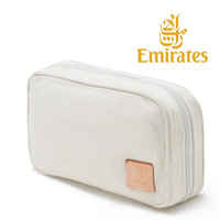 1pcs 2015 Free shipping  canvas waterproof big capacity toilet kit  travelling wash  hand bag  Emirates First Class special seat