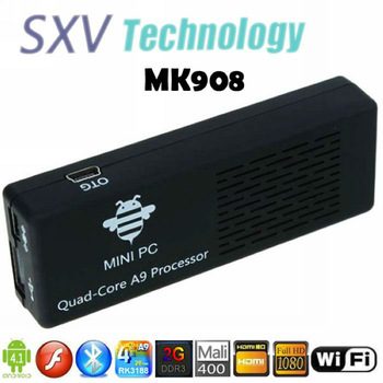 IN STOCK 2pcs/lot MK908 RK3188 Quad Core MINI PC with Andriod 4.1 OS 2GB RAM 8GB Flash Bluetooth V4.0 Google Smart TV Box