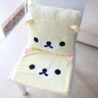 Free Shipping Hot selling  Cartoon bear car pillow +chair  cushion  1set  office pillow  chair cushion