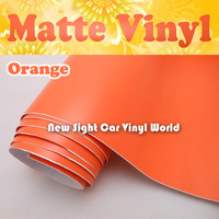 Fast FedEx FREE SHIPPING Matte Orange Car Wraps Vinyl With Air Free Bubble For Car Stickers Size: 1.52*30m/Roll