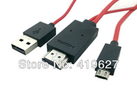 2M Micro USB 11P MHL to HDMI for Samsung Galaxy S4  S5 S IV I9500 S3 SIII i9300 Cable Adapter