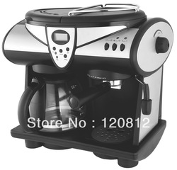 3 in 1 Automatic Espresso Coffee Machine, Espresso Coffee Maker, Drip Coffee Maker 1.5L Water Tank XQ4605T Pressure 15 bar(China (Mainland))