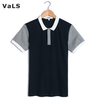 Free Shipping Fashion Cotton Men Polo Shirt, with Gray, Coffee and Blue, Trun-down Collar, Short, Men's Polo
