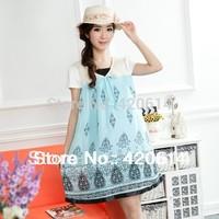 Summer 2014 New Causal Model Maternity Dress, Brand Shorts Women Slim Plus Size Vestidos Pregnant Top selling Girl Clothing 623