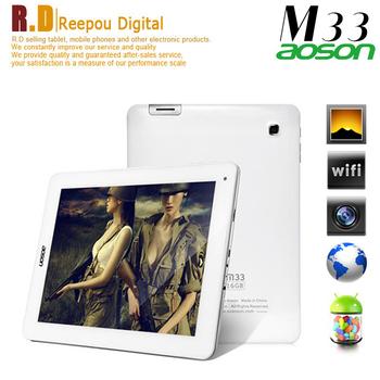 500pcs In Stock  9.7''Aoson M33 RK3188 1.6GHz quad core android4.1 tablet pc 2048x1536 Retina screen 2GB/16GB Dual camera HDMI