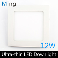 Ultra thin design 12W LED ceiling recessed grid downlight / square panel light 170mm, 1pc/lot free shipping