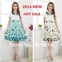 Summer 2014 New Fashion Model Maternity Dress, Brand Shorts Women Slim Plus Size Vestidos Pregnant Flower Lady Clothing 80076