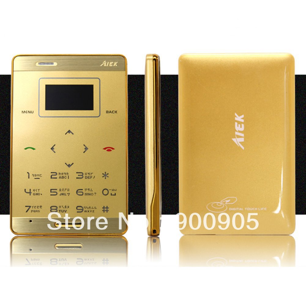 Ultra Slim Mini Pocket OLED Cell Mobile Phone Telephone GSM 900/1800 MP3 FM Bluetooth in Credit Card Size Free Shipping(China (Mainland))