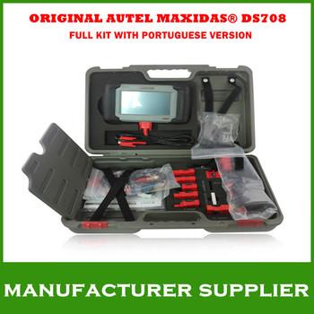 2014 Top Free shipping Original car diagnostics autel Autel Maxidas DS708 ds 708 Universal Diagnostic Scanner Portuguese DS708