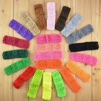 "Wholesale 38Color Hi-Quality 1.5"" baby girl Top TuTu Crochet headbands diy headband headwear Free Shipping 300pcs/lot FD099"