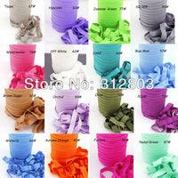 91 Colors!!! 5/8 inch FOE Fold Over Elastic 50 Yards/Roll  -YOU CHOOSE Colors - Shiny for elastic Headbands