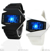 Hot sale bomber flighter style led digital electronic wristwatch,2013 fashion gift for couple's,children's,lover's,high quality