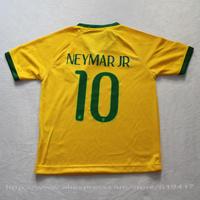 Brazil kids soccer jerseys 2014 home yellow neymar jr boys football uniforms kit china top quality shirts + shorts free shipping