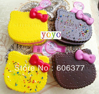 Grade A quality !10cm 4 styles new jumbo hello kitty cream sandwich biscuit squishy phone charm / cell phone charm/ keychain/