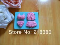 Free shipping 4pcs bikini set silicone chocolate mold chocolate silicon cake decorating fondant mold tool